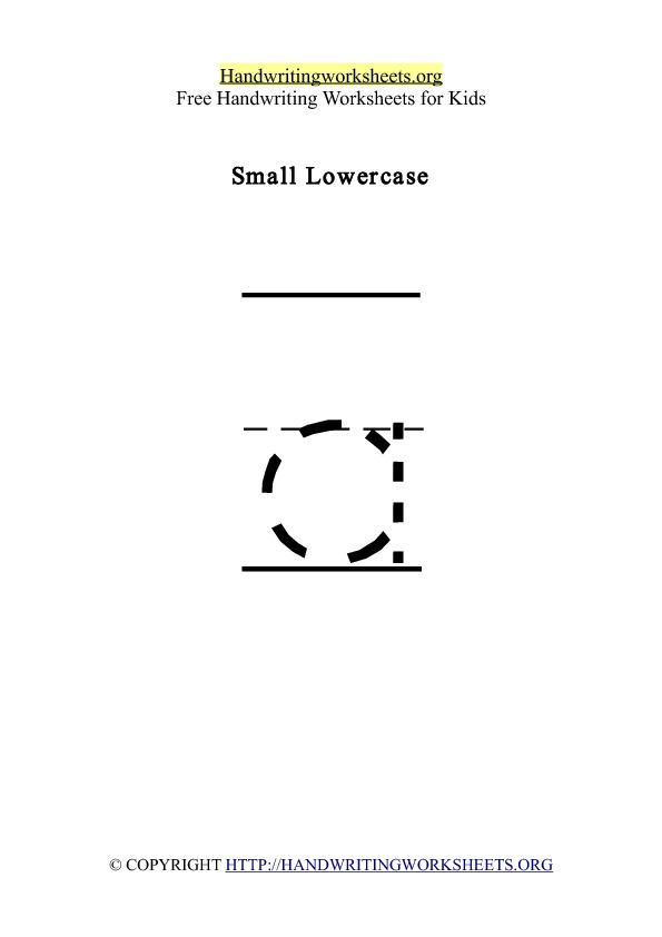 Handwriting Worksheet Letter A Lowercase