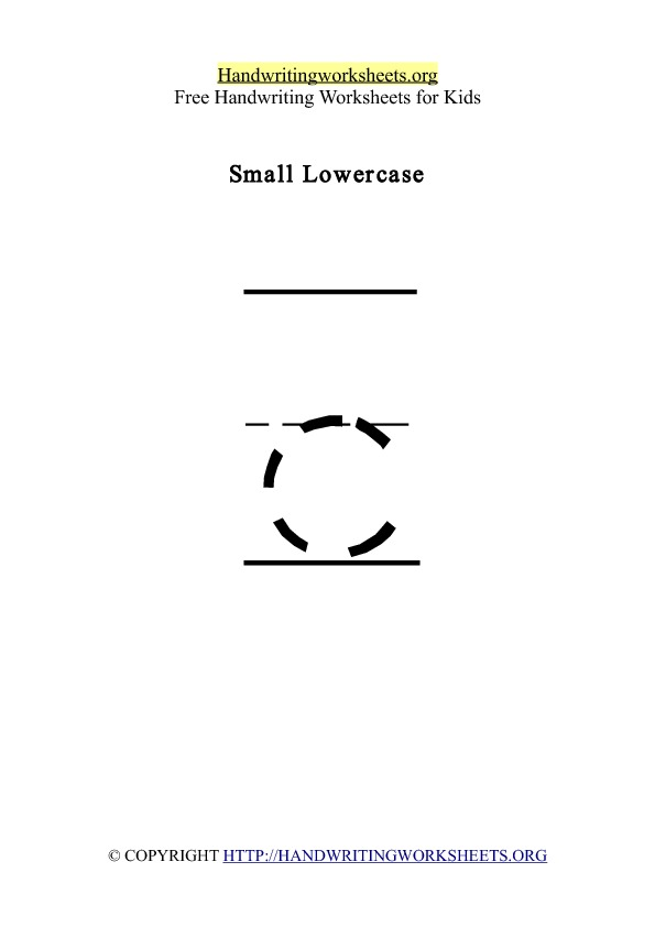 Handwriting Worksheet Letter C Lowercase