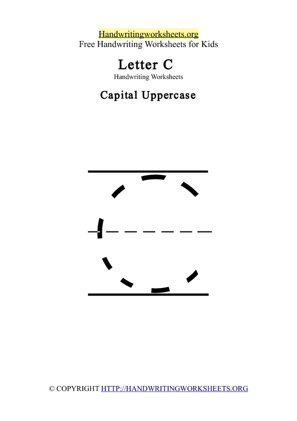 Handwriting Worksheets Letter C