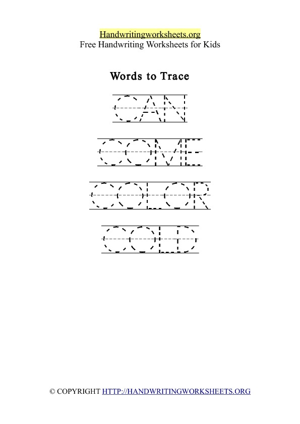 Handwriting Worksheet Letter C Words