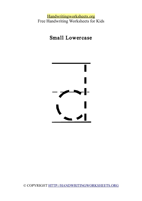Handwriting Worksheet Letter D Lowercase