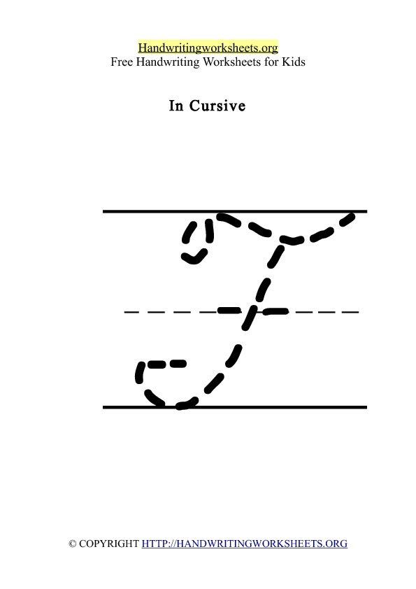 Handwriting Worksheet Letter F Cursive