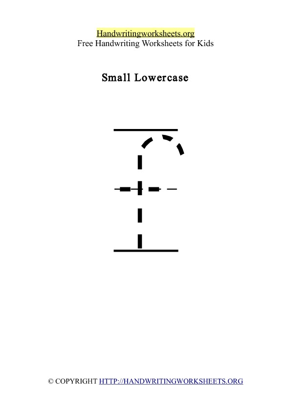 Handwriting Worksheet Letter F Lowercase
