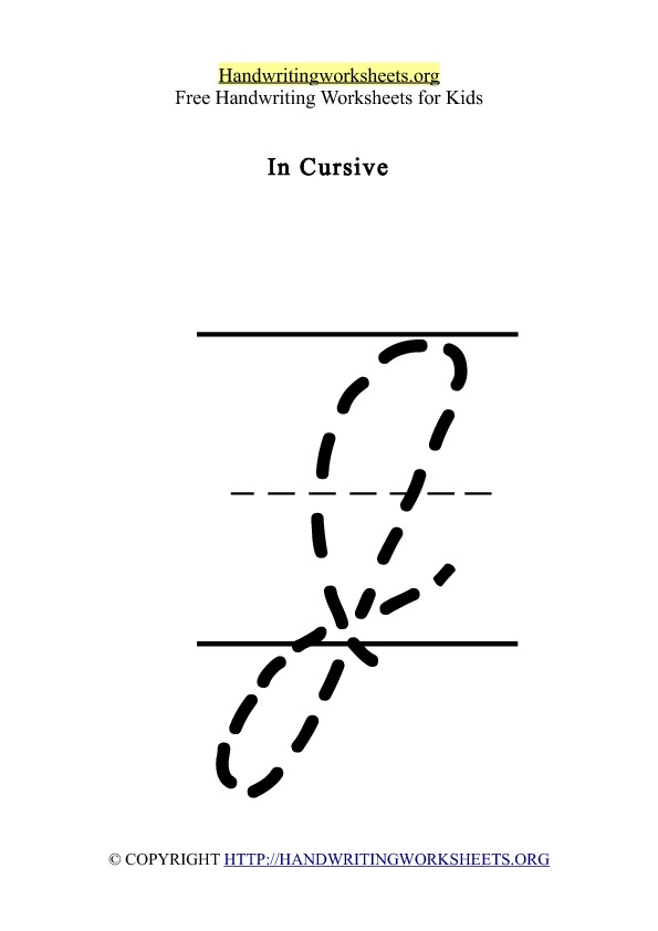 Handwriting Worksheet Letter J Cursive