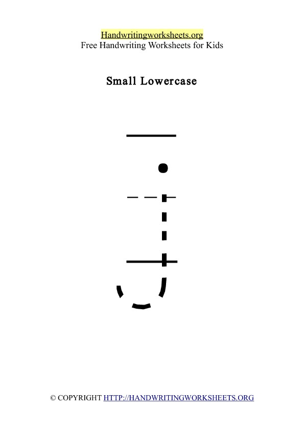Handwriting Worksheet Letter J Lowercase