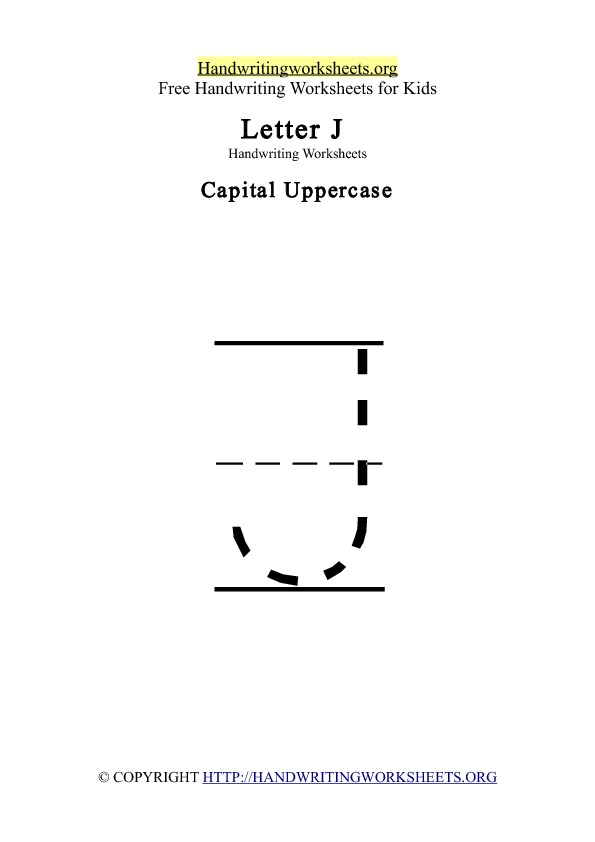 Handwriting Worksheets Letter J | Handwriting Worksheets Org