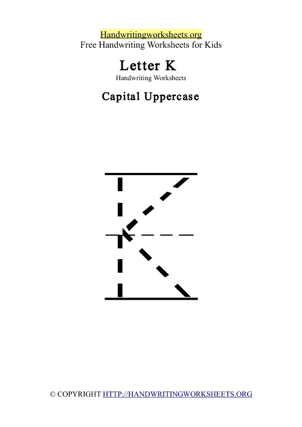 Handwriting Worksheets Letter K