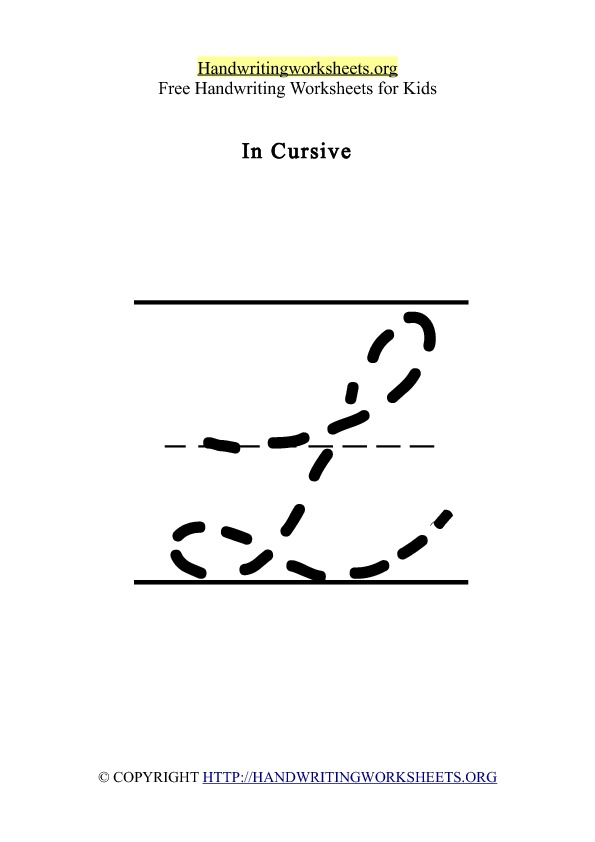 Handwriting Worksheet Letter L Cursive