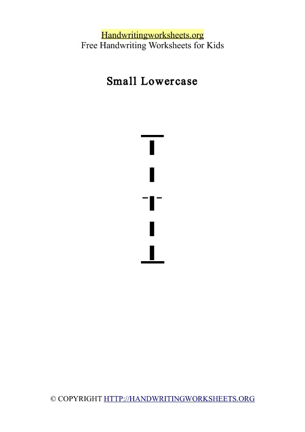 Handwriting Worksheet Letter L Lowercase