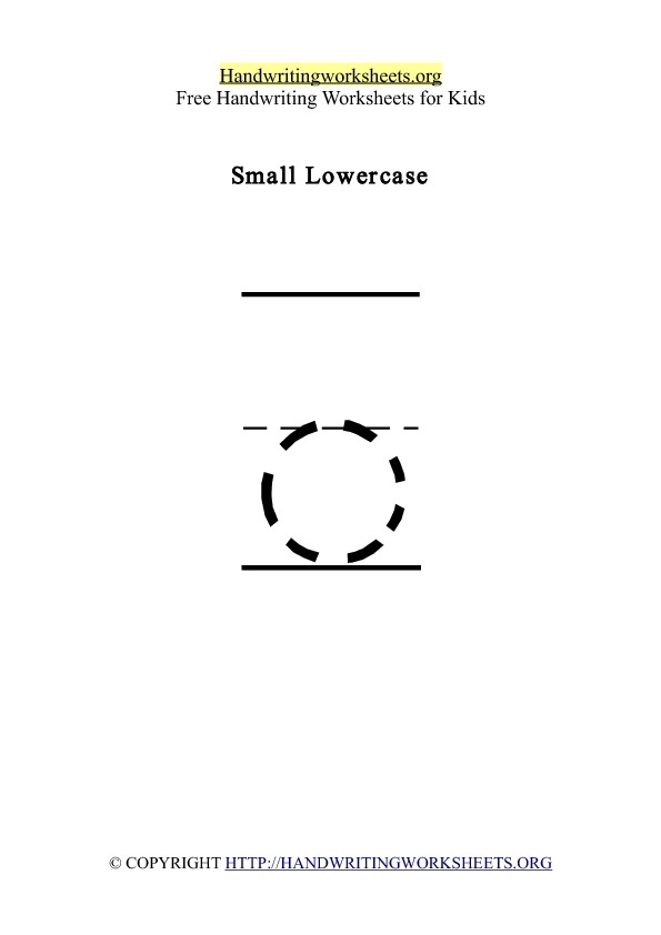 Handwriting Worksheet Letter O Lowercase