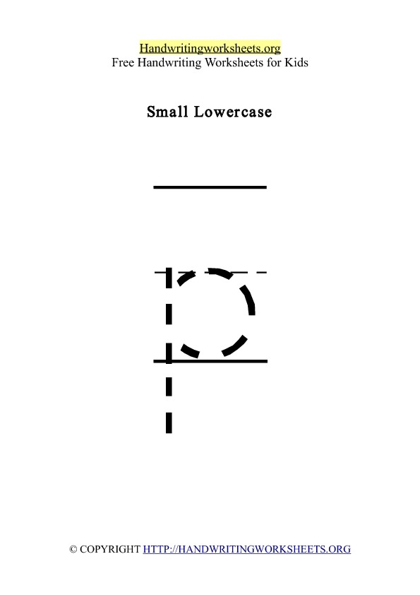 Handwriting Worksheet Letter P Lowercase