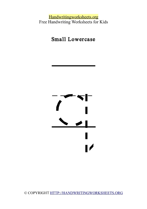 Handwriting Worksheet Letter Q Lowercase