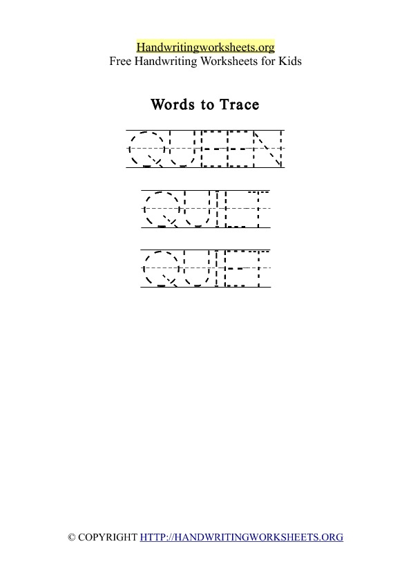 Handwriting Worksheet Letter Q Words