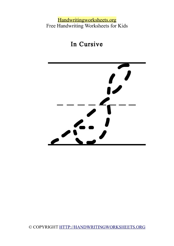 Handwriting Worksheet Letter S Cursive