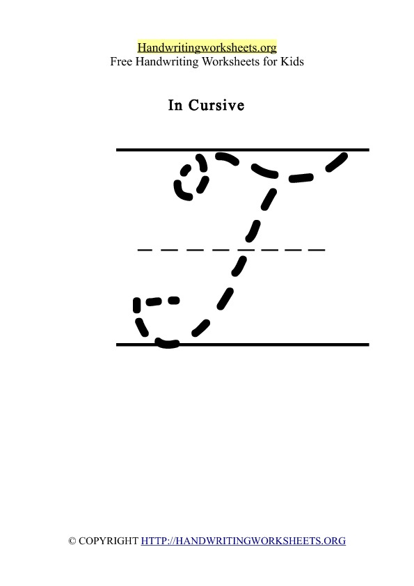 Handwriting Worksheet Letter T Cursive