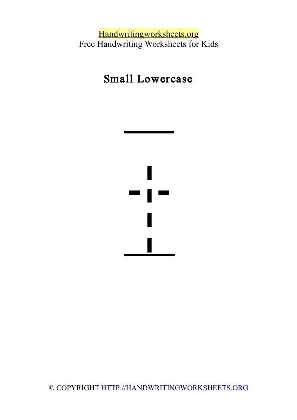 Handwriting Worksheet Letter T Lowercase