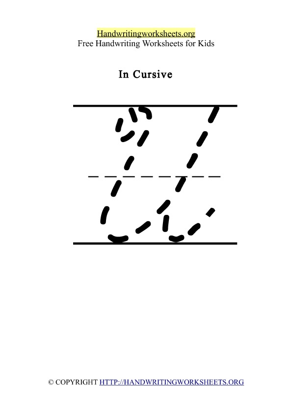 Handwriting Worksheet Letter U Cursive