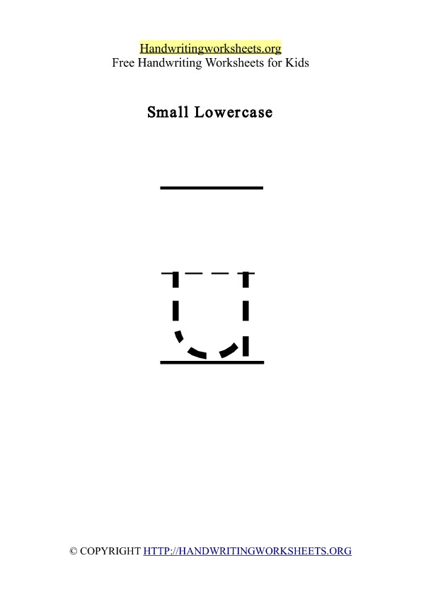 Handwriting Worksheet Letter U Lowercase
