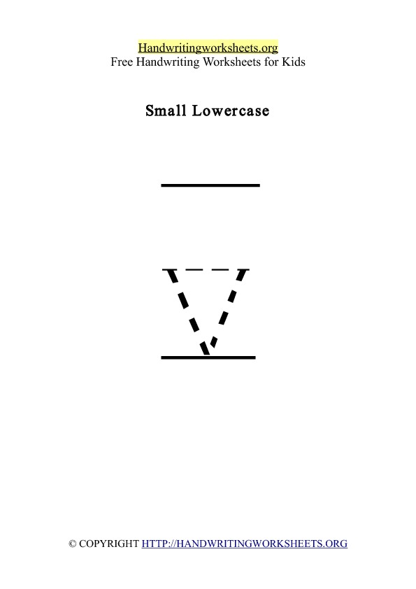 Handwriting Worksheet Letter V Lowercase