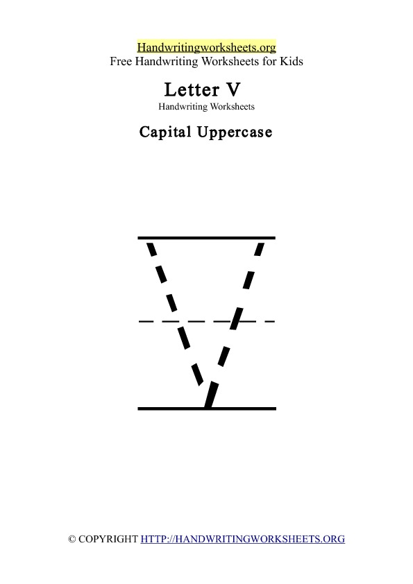 ... Letter V worksheets in uppercase, lowercase, cursive and Letter V