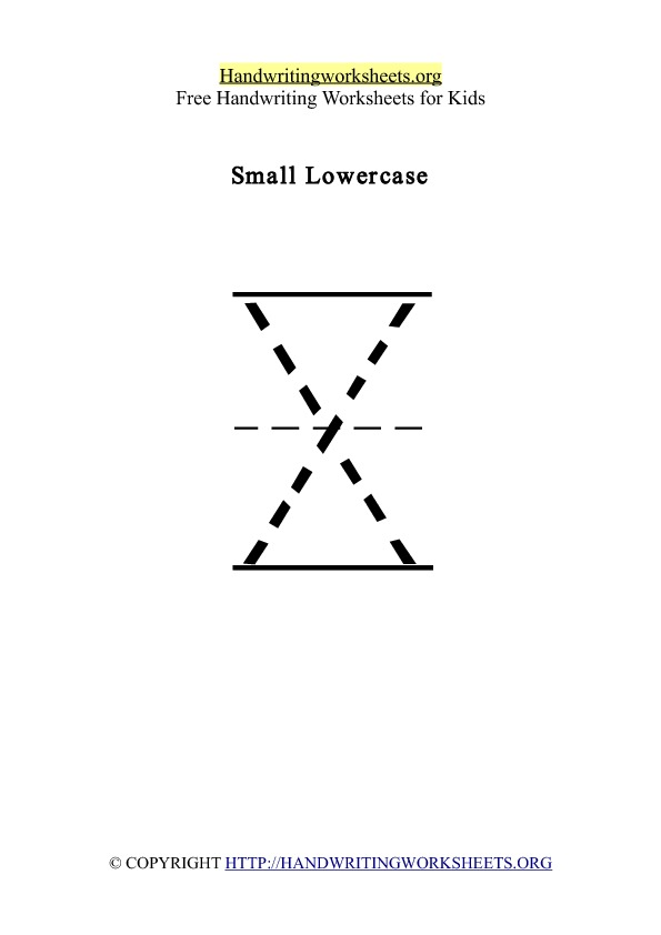 Handwriting Worksheet Letter X Lowercase