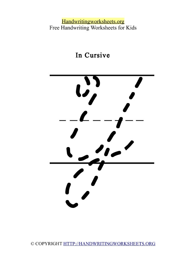 how to write y in cursive