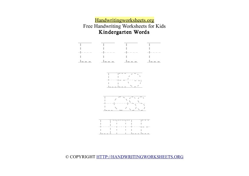 Handwriting Words Letter L Uppercase Capitals