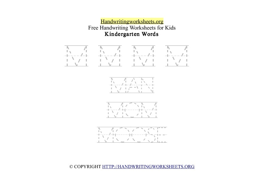 Handwriting Words Letter M Uppercase Capitals