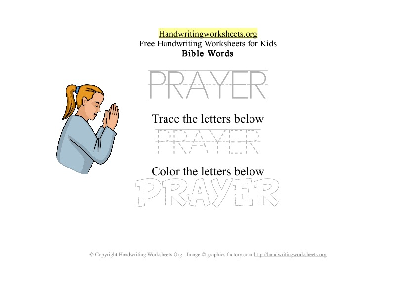 workbooks on prayer