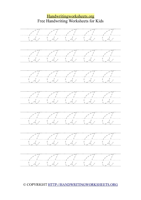 Cursive Alphabet Handwriting Letter Worksheets on Single Letter Q Practice Sheets