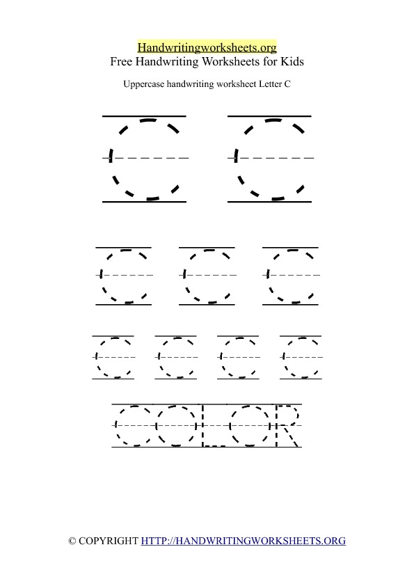 Uppercase Handwriting Worksheet C