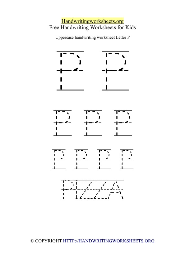 Uppercase Handwriting Worksheet P