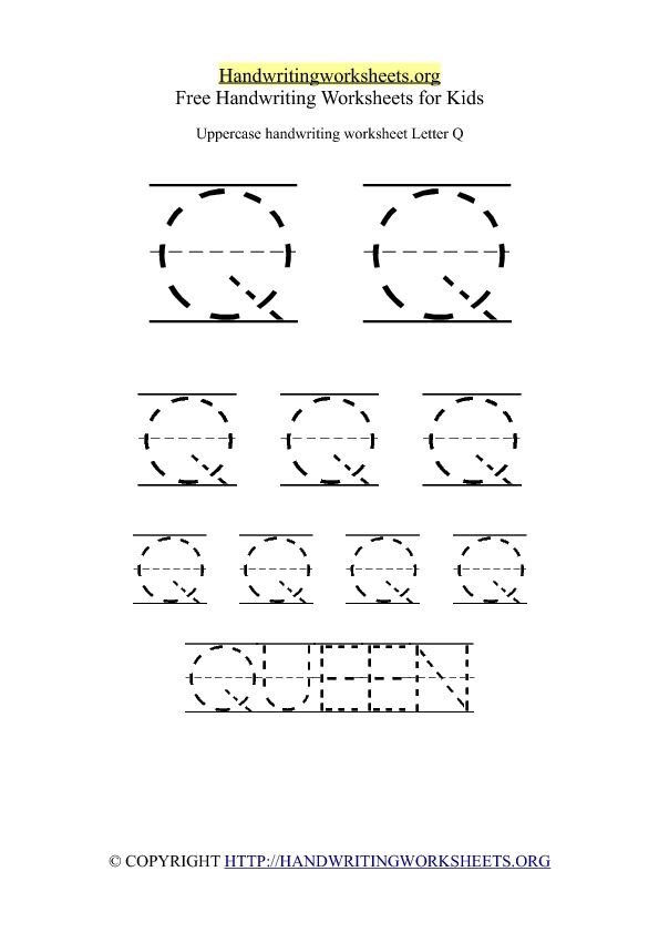Uppercase Handwriting Worksheets A Z By Letter Handwriting