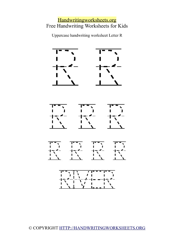 Uppercase Handwriting Worksheet R