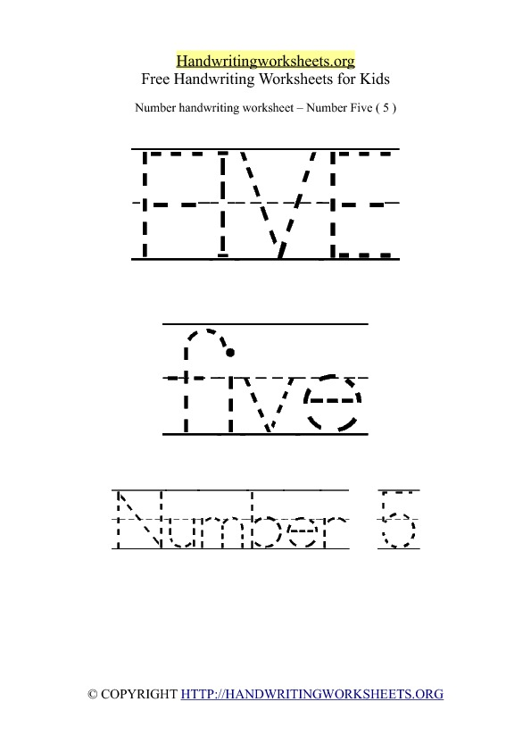 Number Handwriting Worksheet O
