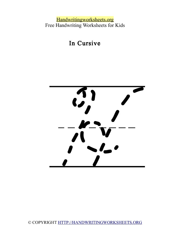 Handwriting Worksheet Letter H Cursive