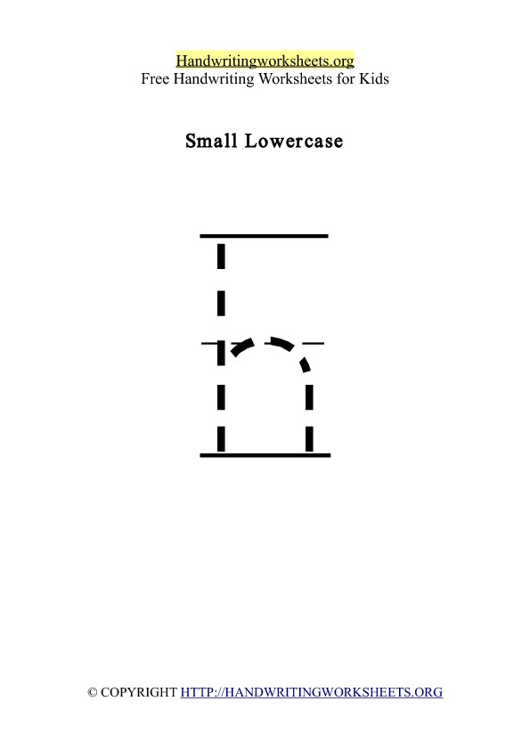 Handwriting Worksheet Letter H Lowercase