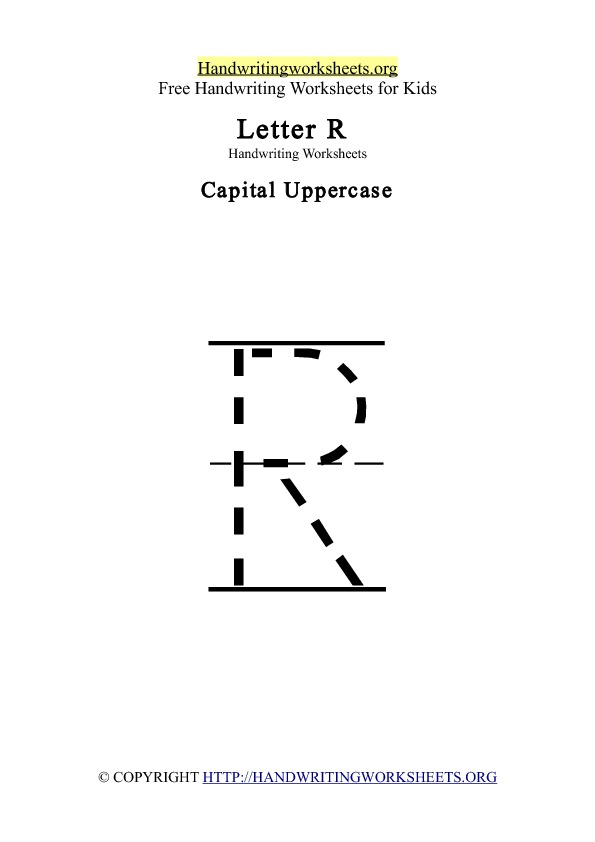 Handwriting Worksheets Letter R
