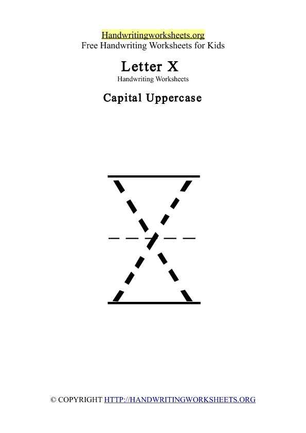 Handwriting Worksheets Letter X