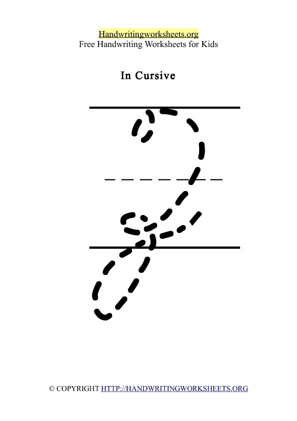 Handwriting Worksheet Letter Z Cursive